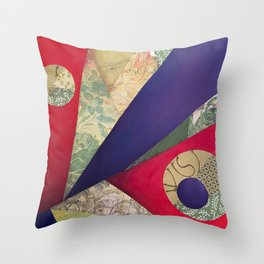 Split complementary abstract Throw Pillow