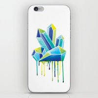 crystals iPhone & iPod Skins featuring Crystals by Liz Urso