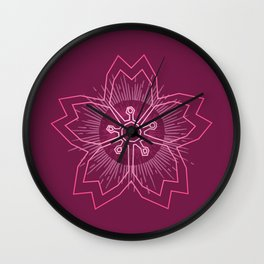 Pink Cherry Blossom Wall Clock