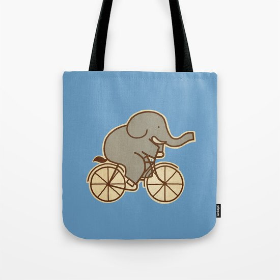 Elephant Cycle - colour option Tote Bag