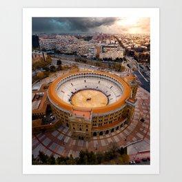 Spain's Bullfighting Ring Art Print