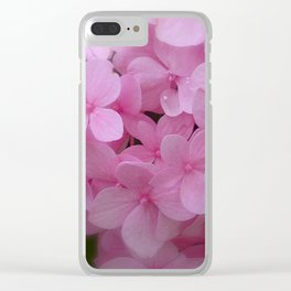 Pink Hydrangea - Flower Photography Clear iPhone Case