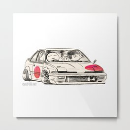Crazy Car Art 0171 Metal Print
