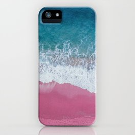 Pink ocean waves iPhone Case