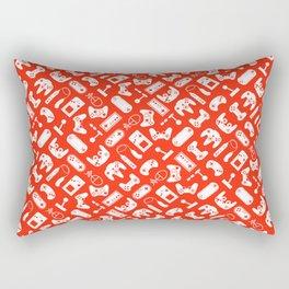 Control Your Game - Tangerine Rectangular Pillow