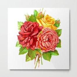 Rose Flower Bouquet Metal Print