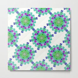 purple, green and blue abstract pattern Metal Print