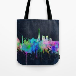 Paris skyline waterolor 2 Tote Bag