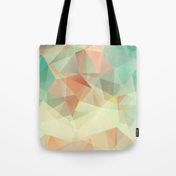 Polygon picture. Oasis in the desert. Tote Bag