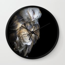 Pulling Feathers Wall Clock