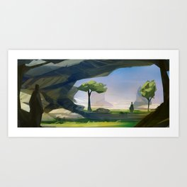 In the shadow Art Print