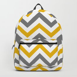 Chevron yellow and gray cute pattern Backpack