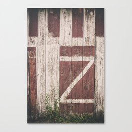 A Barn with a Z on it Canvas Print