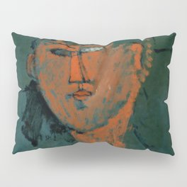 "Amedeo Modigliani ""Red Head (Tête rouge)"" Pillow Sham"