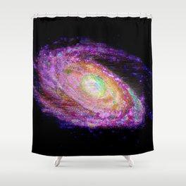 Glitch Galaxy Shower Curtain