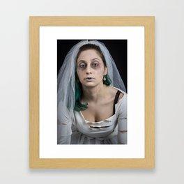 Cold Kiss Lips Framed Art Print