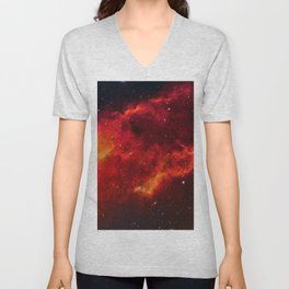 Nebula in Constellation Perseus Unisex V-Neck