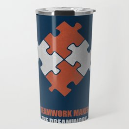 Lab No. 4 - Teamwork makes the dreamwork corporate start-up quotes Poster Travel Mug