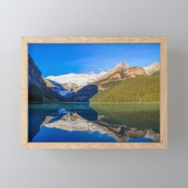Lake Louise panorama, Canada. Framed Mini Art Print