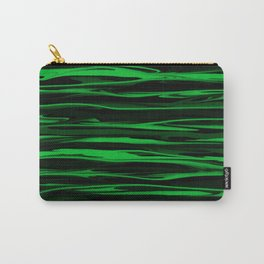 Apple Green Stripes Carry-All Pouch