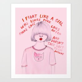 I fight like a girl Art Print