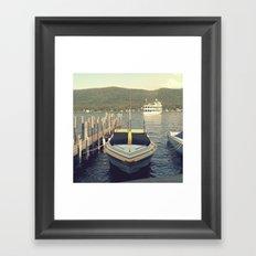 Lake George Boat, NY Framed Art Print