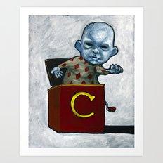 Charlie in the Box Art Print