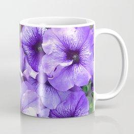 Violet-Purple And Ruby Red Petunia Flowers Coffee Mug