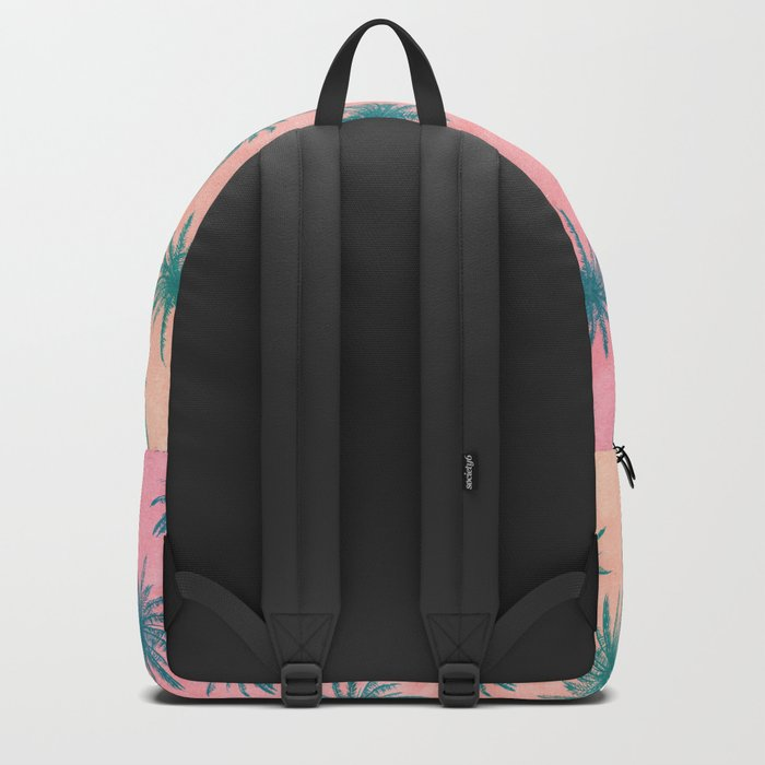 Palm Tree Pattern Backpack