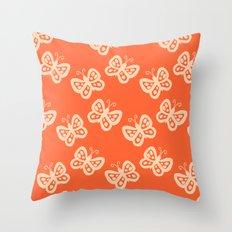 Butterflies orange Throw Pillow