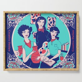 Women Artists (Creative Outlaws) Serving Tray