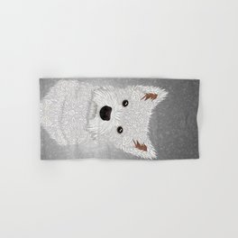 Cute West Highland Terrier Portrait Hand & Bath Towel