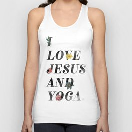 JESUS AND YOGA Unisex Tank Top