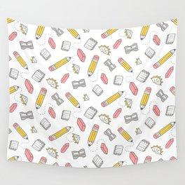 Pencil, eraser, sharpener. Wall Tapestry