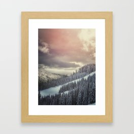 Off Piste Framed Art Print