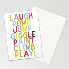 Jump Giggle Play! Stationery Cards