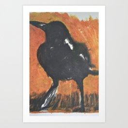 Magpie at Dawn Art Print