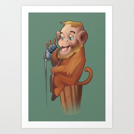 Voice Of The Monkey  Art Print
