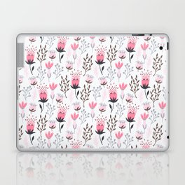 Mod Floral Pink + Gray Laptop & iPad Skin