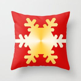Gold Snowflake Throw Pillow