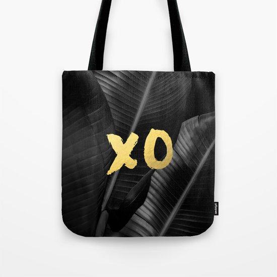 XO gold - bw banana leaf Tote Bag
