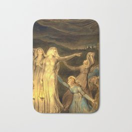 """William Blake """"The Parable of the Wise and Foolish Virgins"""" Bath Mat"""