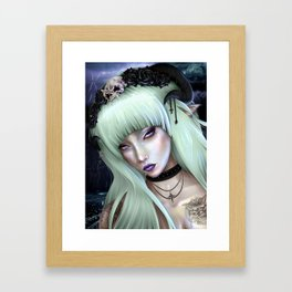 Gothic Succubus Framed Art Print