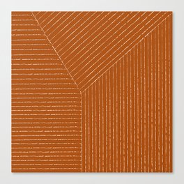 Lines (Rust) Canvas Print