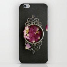 Vintage Tea Strainer and Rose Petals iPhone & iPod Skin