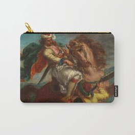 "Eugène Delacroix ""Greek horseman and an Ottoman Turk"" Carry-All Pouch"