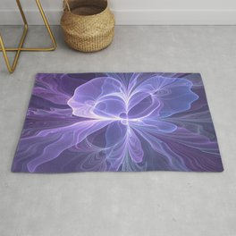 Abstract Art, Purple Fantasy Fractal Rug