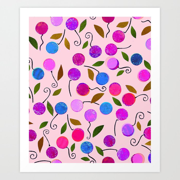 cherry-berrie jumble ... Art Print