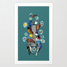 Picky Feeders Art Print