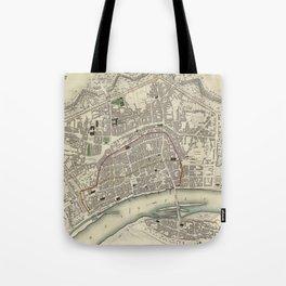 Vintage Map of Frankfurt Germany (1837) Tote Bag